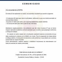 Escuelas de la UNAM entran en paro por los 4 años de Caso Ayotzinapa