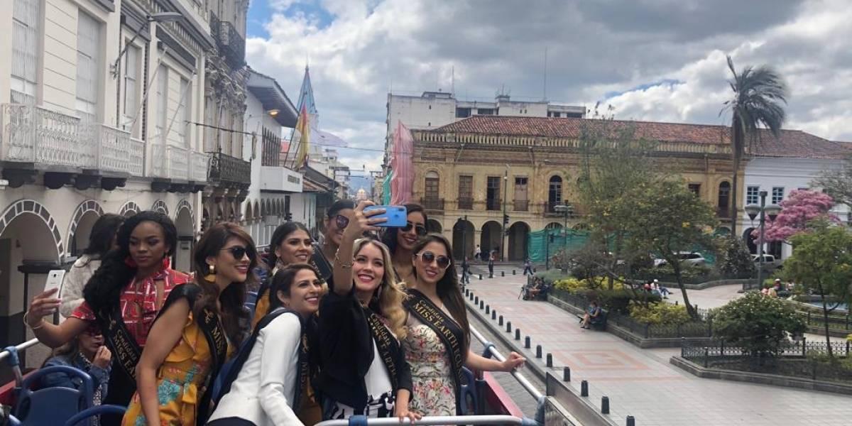 Aspirantes a Miss Earth Ecuador 2018 recorrieron Cuenca