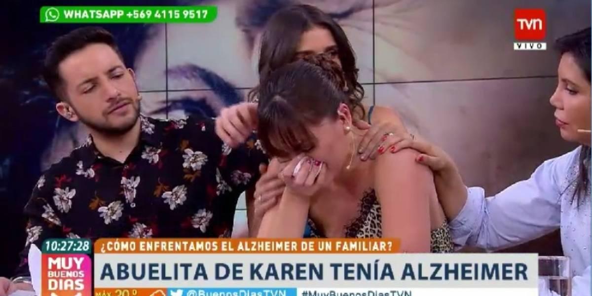 Karen Bejarano explota en llanto durante emotivo bloque del matinal