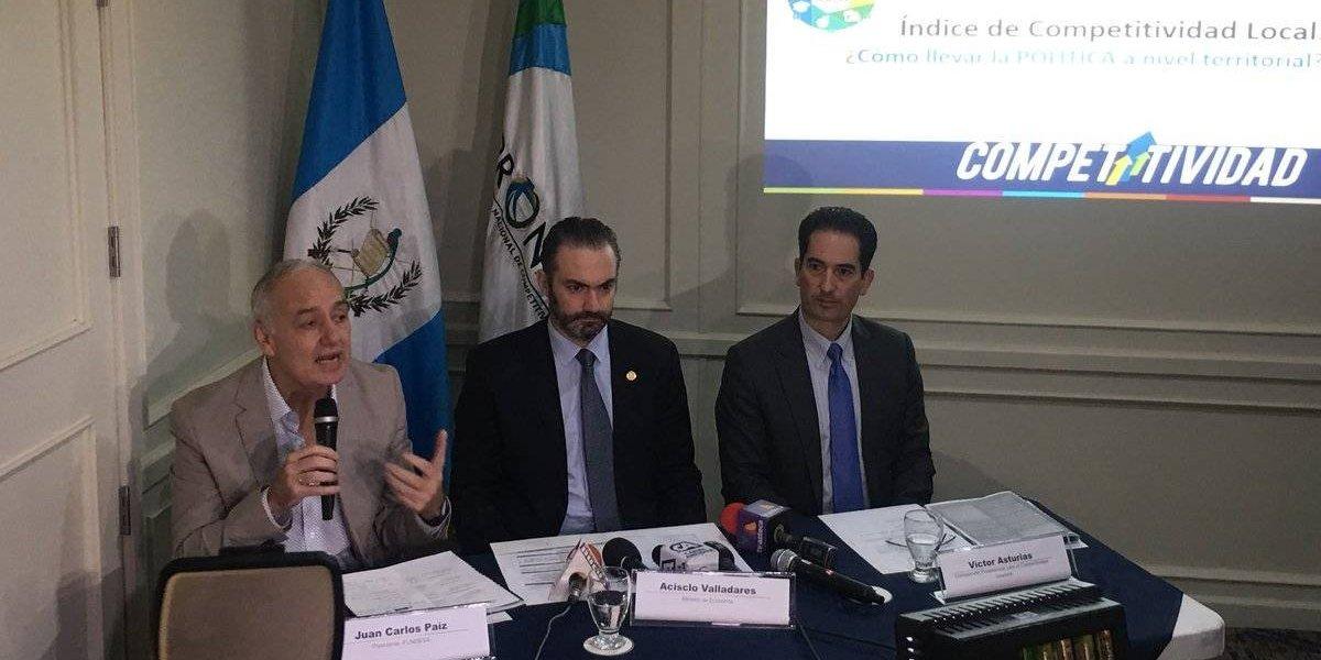 Antigua Guatemala, Guatemala y Mixco, los municipios con mejor competitividad local