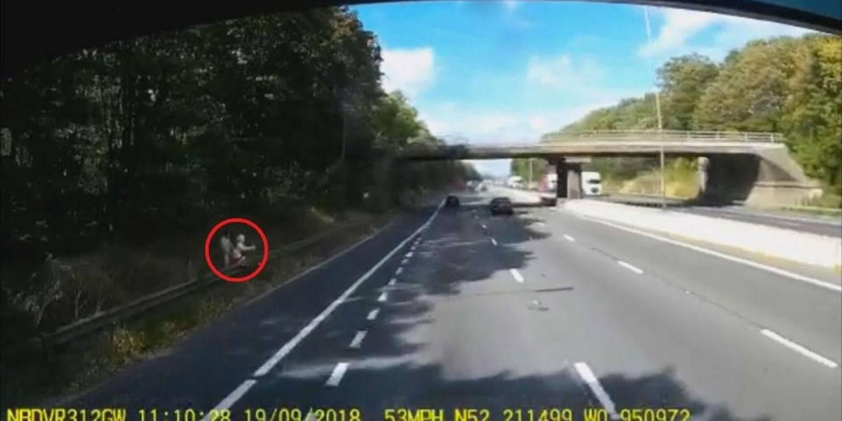 Bizarro: homem é flagrado fazendo sexo com boneca inflável em rodovia