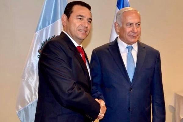 reunión entre Jimmy Morales y Benjamín Netanyahu en Nueva York