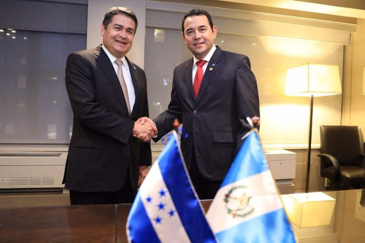 Jimmy Morales y Juan Orlando Hernández