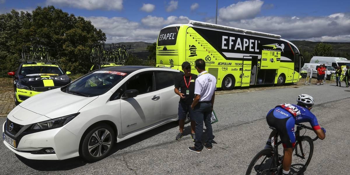 La Vuelta Ciclista a Portugal se convierte en la primera en ser seguida en un auto eléctrico