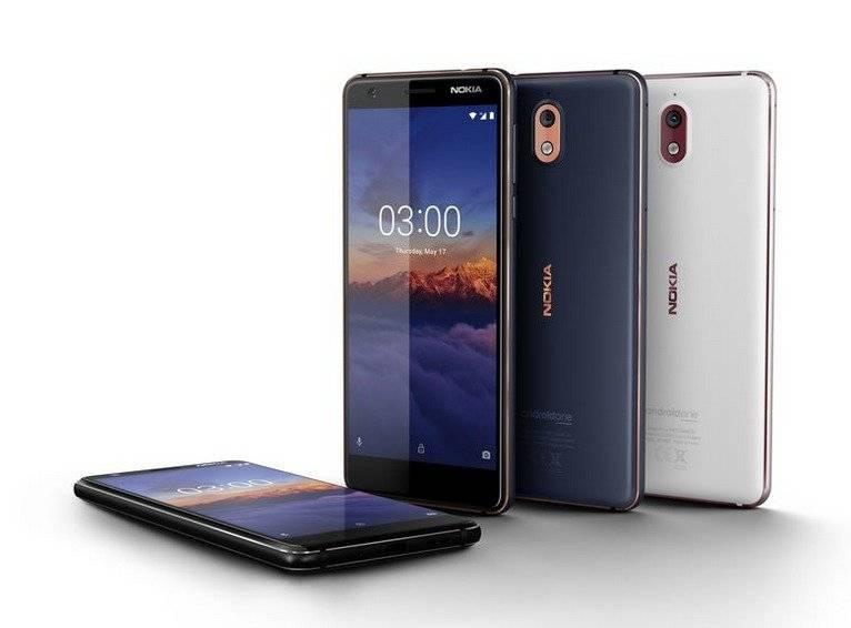 Este el el Nokia 3.1. Diseñado en material premium, pantalla esculpida de 5.2 pulgadas HD+; con cámara trasera de 13 MP y cámara frontal de 8MP. Procesador Octa-core y con Android Oreo puro, seguro y actualizado / Cortesía
