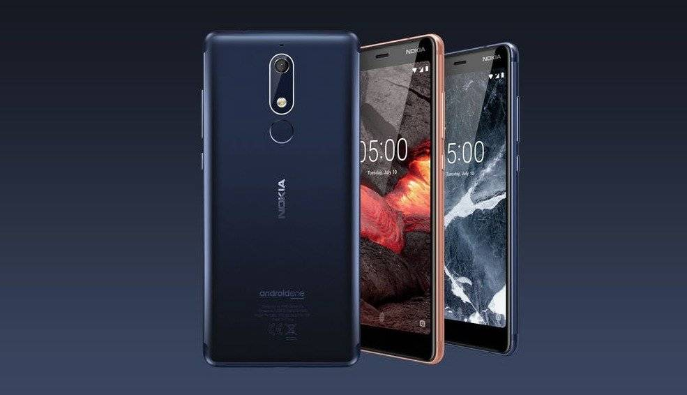 Aquí el Nokia 5.1: pulido en mono-bloque de aluminio, pantalla esculpida de 5.5 pulgadas HD+ IPS 18:9; cámara trasera de 16MP con flash LED y cámara frontal de 8 MP. Cuenta con un procesador Octa-core y última versión de Android / Cortesía