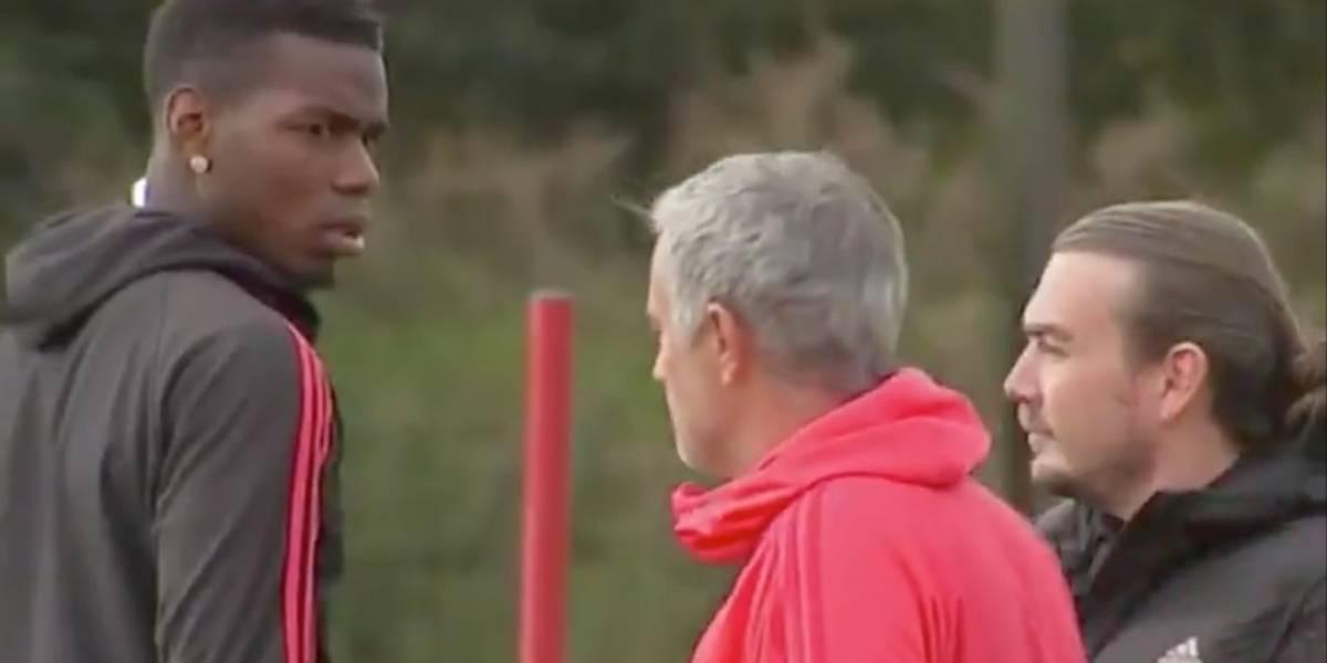 La tensión entre Pogba y Mourinho crece al máximo con un duro cara a cara en el entrenamiento