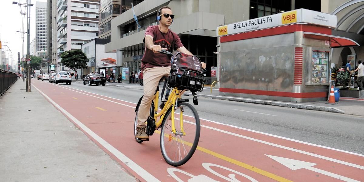 Estudo mostra mais ciclistas na rua Líbero Badaró e na avenida Paulista