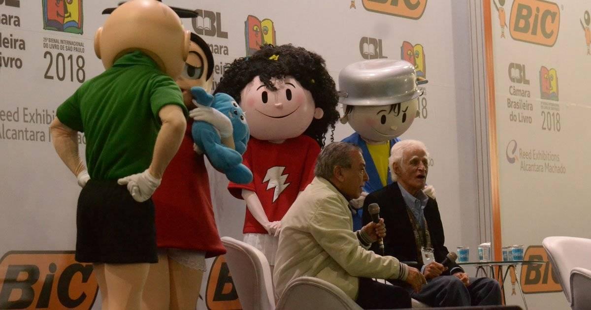 Ziraldo e Maurício de Souza na Bienal do Livro, em agosto Caio Rocha /Fotoarena/Folhapress