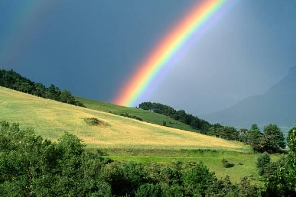 Familia encuentra el final de un arcoíris y registra en video el momento de su llegada