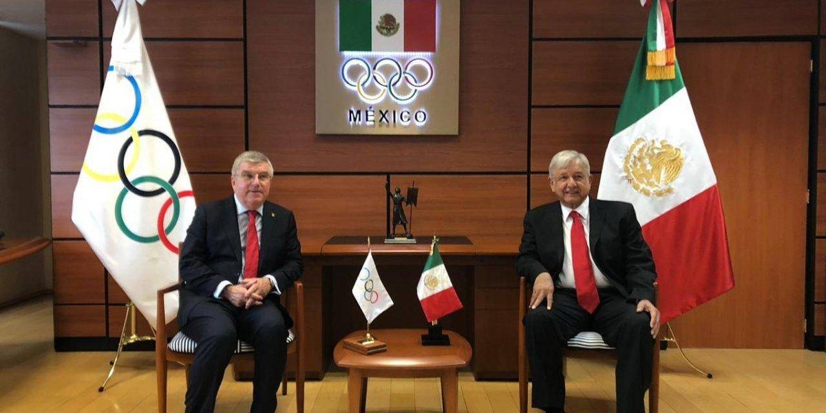 Thomas Bach visita México y se reúne con AMLO