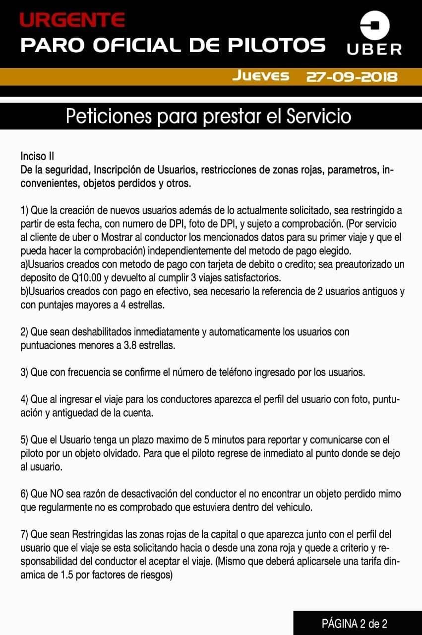 Uber peticiones