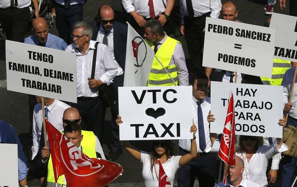 Los representantes de las VTC aceptaran participar en una comisión de diálogo con el sector del taxi para estudiar una solución a la disputa Foto: AP