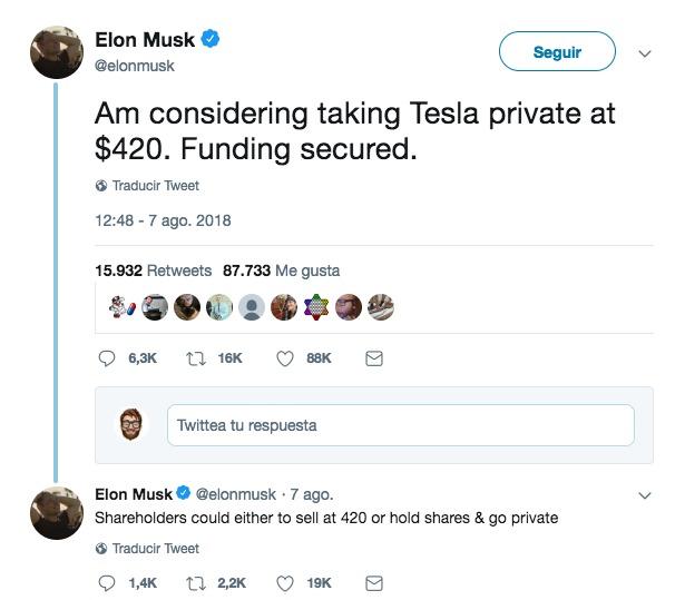 Este tuit que va a salir carísimo a Elon Musk — Tesla