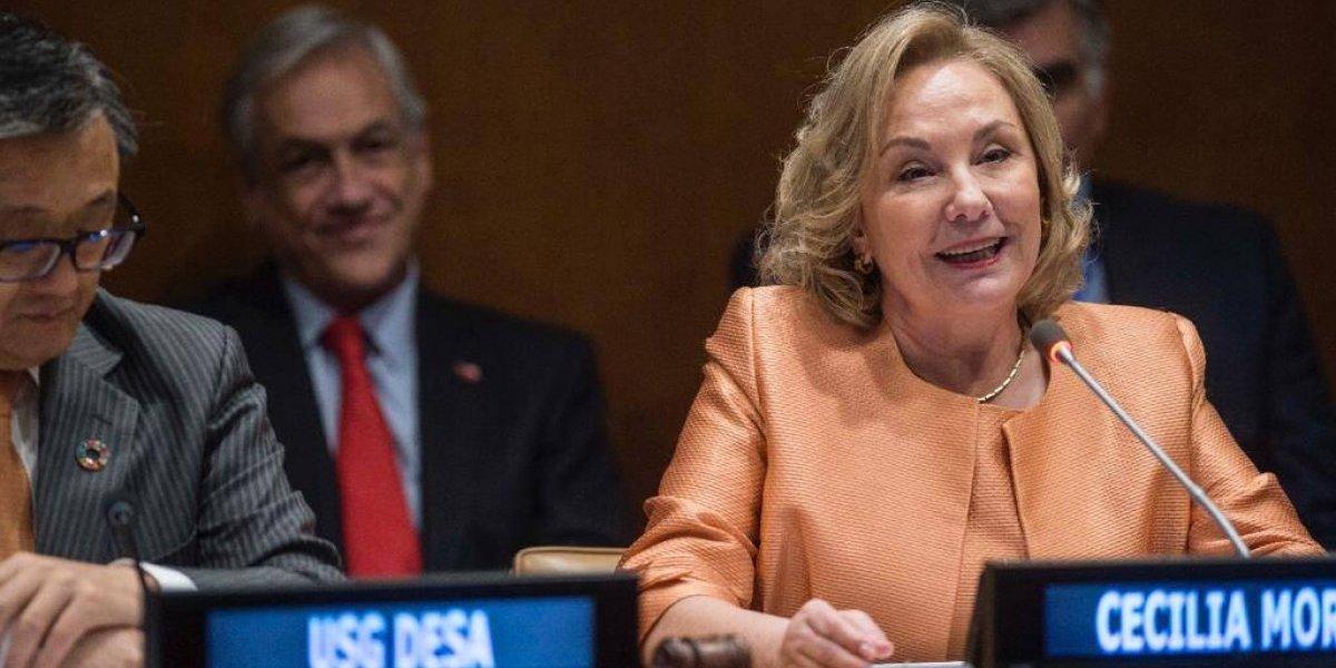 Este fue el romántico gesto entre Piñera y Morel en la ONU