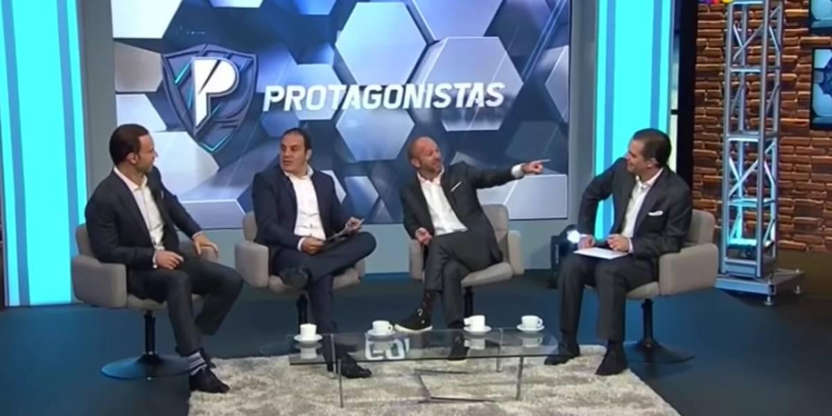 VIDEO: Cuauhtémoc Blanco hizo de las suyas en Los Protagonistas