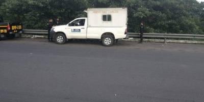 ambulancia con droga en Escuintla