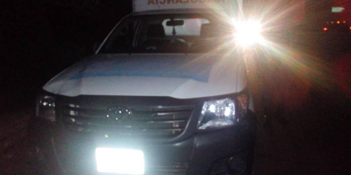 Localizan cocaína en interior de ambulancia en Escuintla