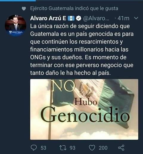 Mensaje Álvaro Arzú