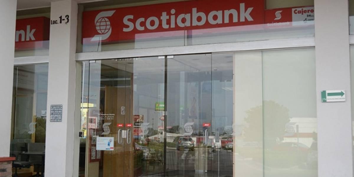 Scotiabank suspende cajeros, apps y flujo de efectivo por tres días