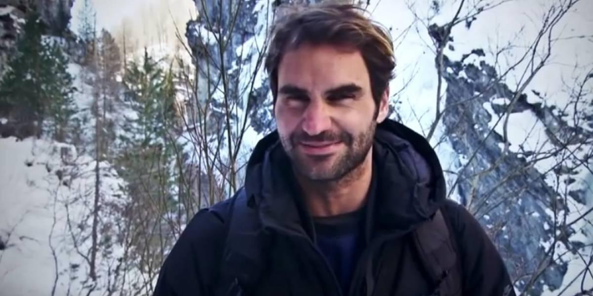 Roger Federer muestra su lado más salvaje fuera del tenis