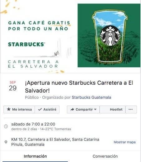 Evento Starbucks