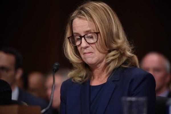 Christine Blasey Ford ante el Senado de Estados Unidos