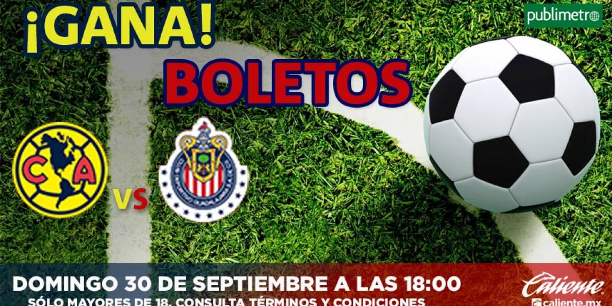 ¡Gana! boletos América vs Chivas