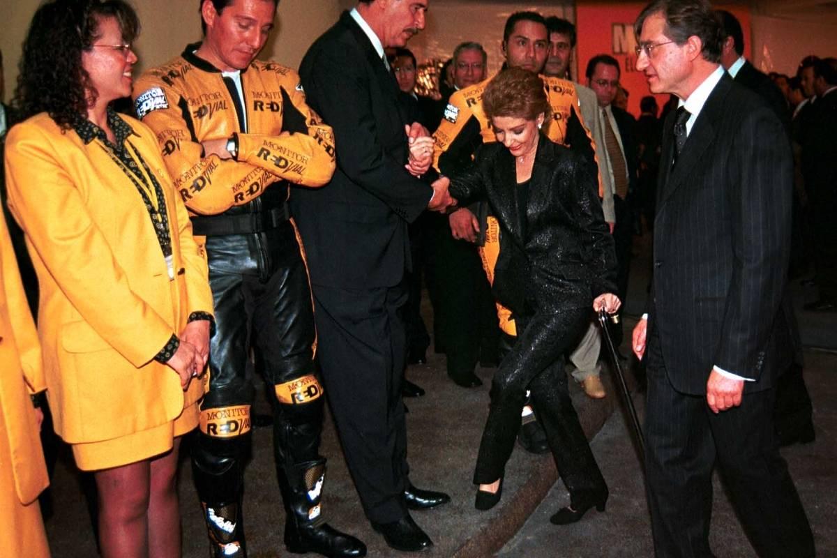 El 28 aniversario de Grupo Monitor contó con la presencia del entonces presidente Vicente Fox Foto: Cuartoscuro