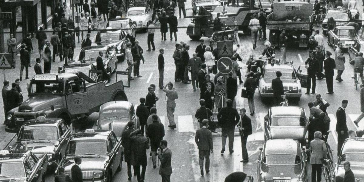 """O dia em que a Suécia acordou com o trânsito """"virado do avesso"""""""