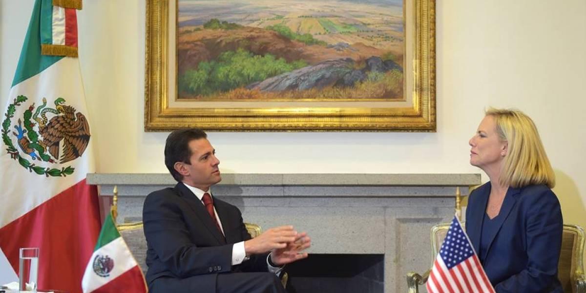 Peña Nieto y Kirstjen Nielsen dialogan sobre migración y seguridad