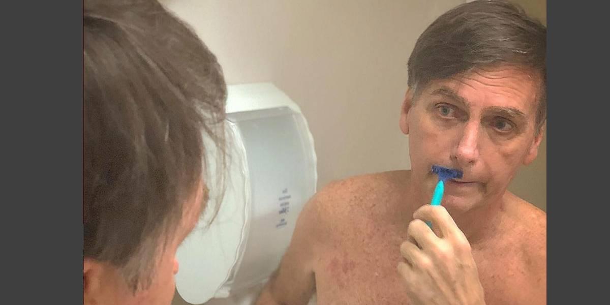Foto mostra Bolsonaro se preparando para deixar hospital
