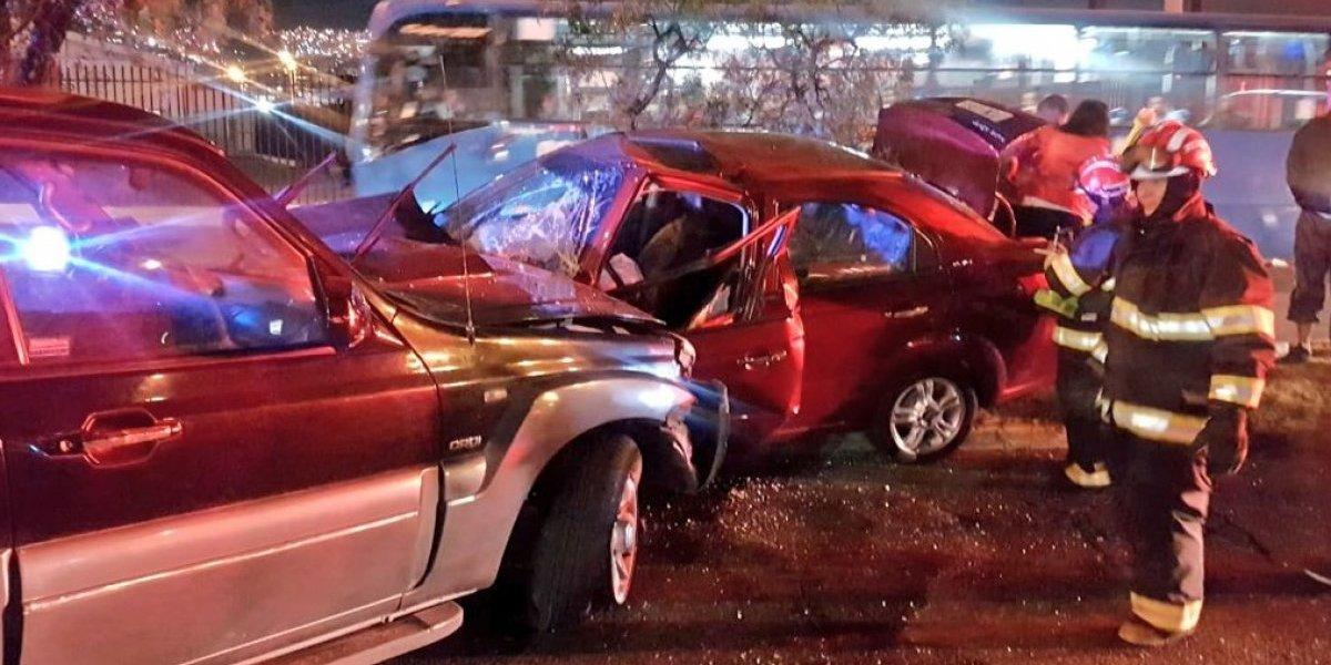 Accidente de tránsito en la Av. Galo Plazo Lasso y Rafael Ramos, norte de Quito