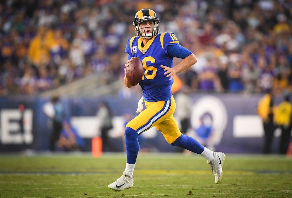 Goff completó 465 yardas. / Getty Images