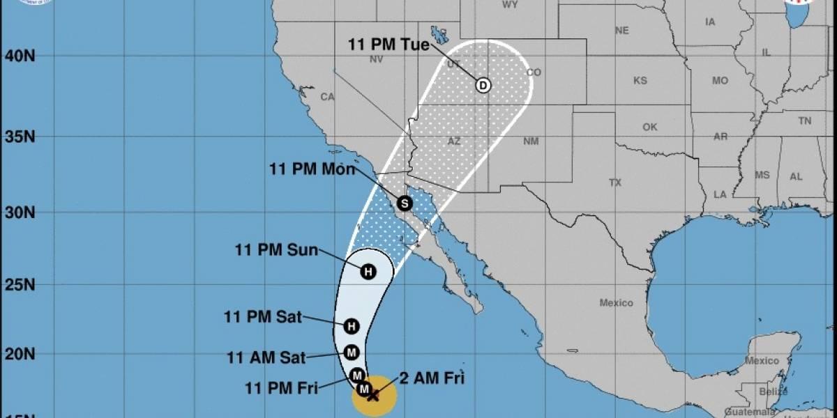 Huracán Rosa categoría 4 se acerca a costas de Baja California Sur