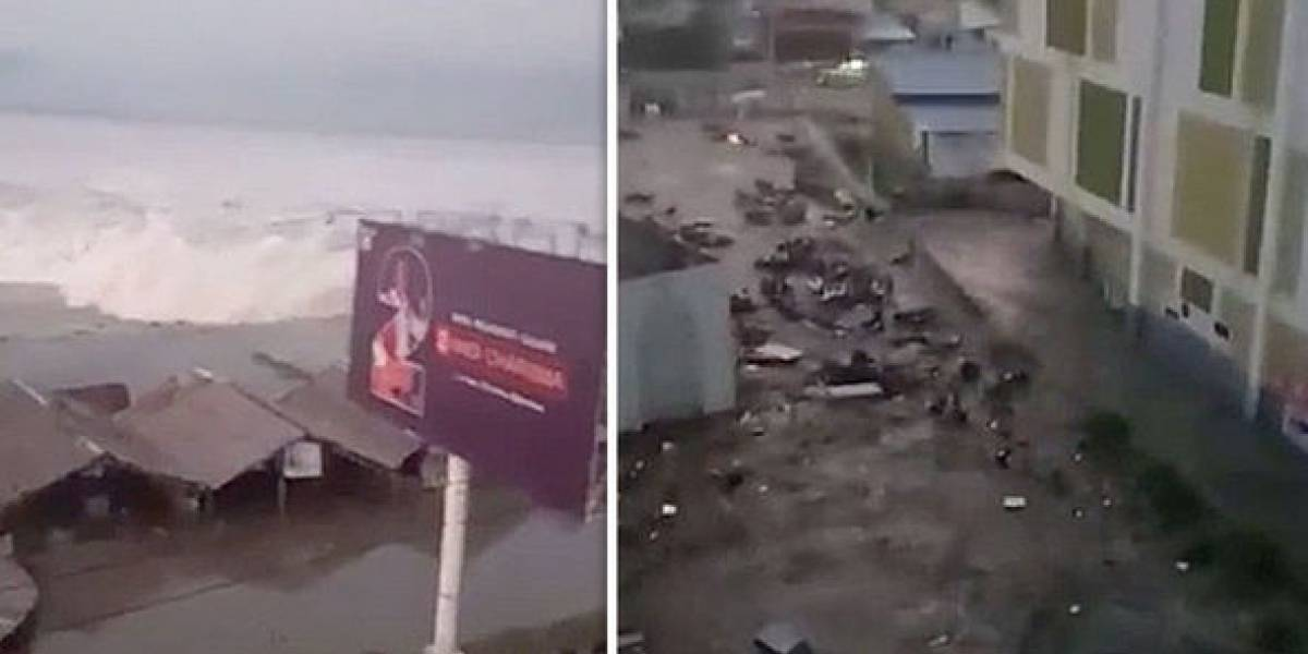 Los impactantes videos de la alerta de tsunami que golpeó a Indonesia