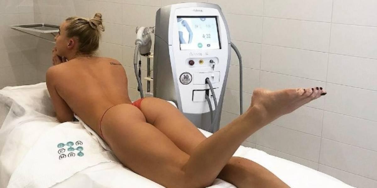 Publican la imagen más sexy de una jugadora de hockey lesionada