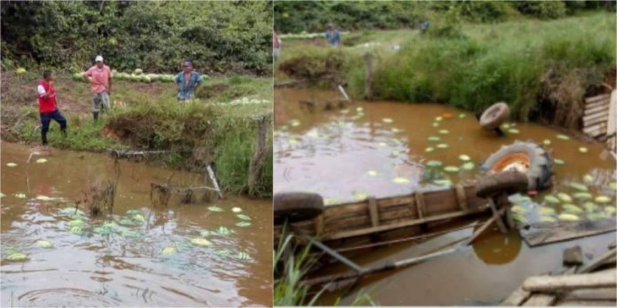 Por desplome de puente se perdieron tres toneladas de patilla en pueblo colombiano