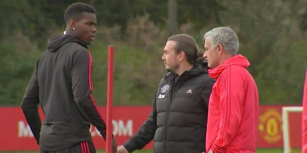 ¡Tensión a tope! Mourinho y Pogba