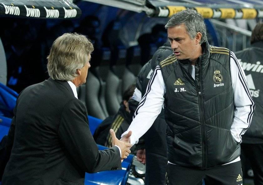 La rivalidad entre Pellegrini y Mourinho estalló cuando el portugués reemplazó al chileno en el banco del Real Madrid / Foto: AP