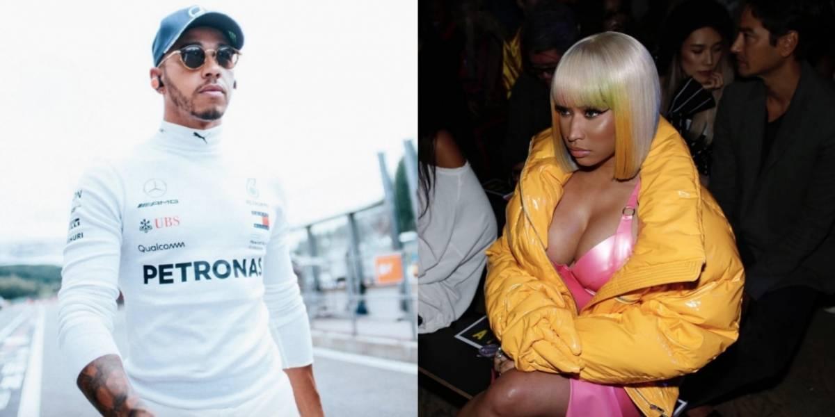 Lewis Hamilton y Nicki Minaj presumen presunto romance