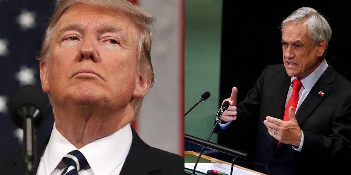"""Piñera y Trump se reúnen tras acusación de Maduro de ser """"autores"""" del supuesto atentado con drones"""