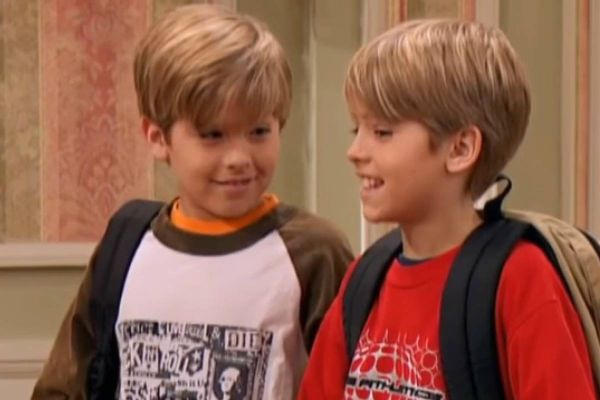 Dylan sprouse posts a throwback pic with cole sprouse that has a zack cody twist