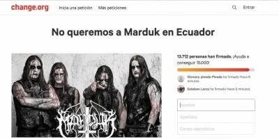 Vetan de Guatemala a banda sueca de metal por