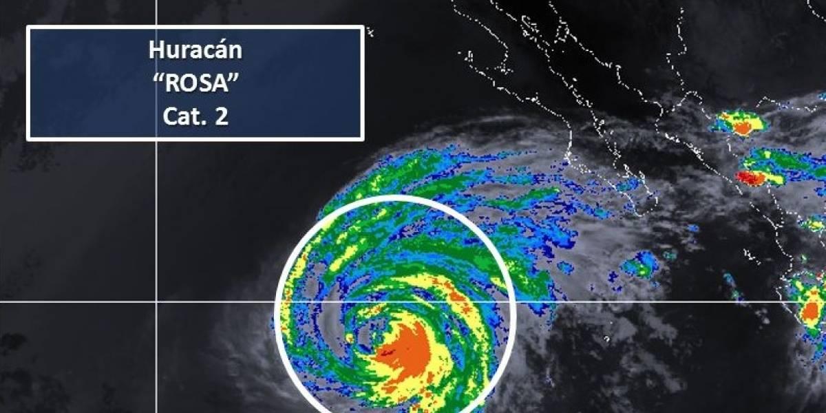 Huracán Rosa se debilita a categoría 2 frente a las costas de BCS