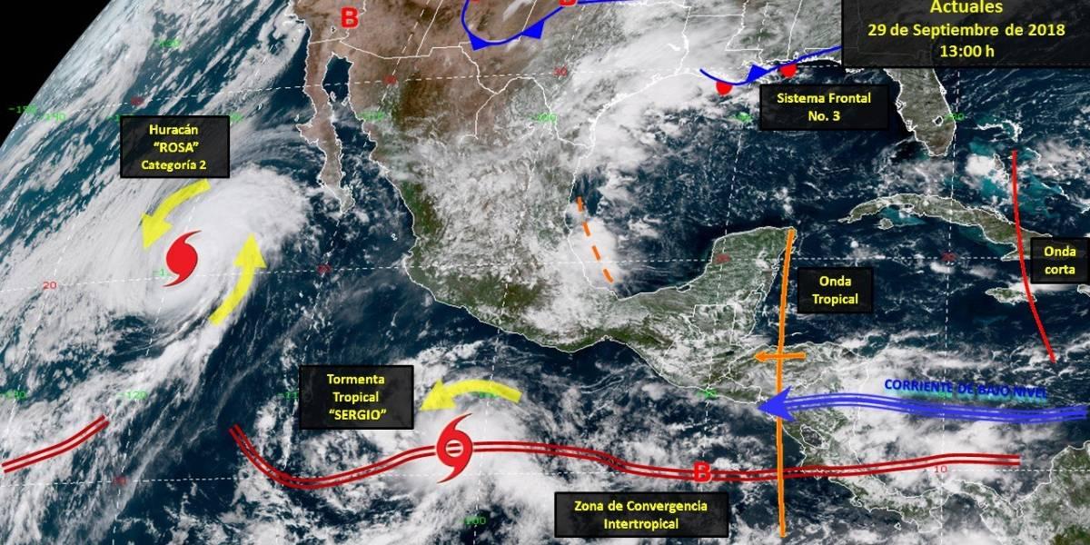 Se forma tormenta tropical Sergio al sur-sureste de Acapulco, Guerrero