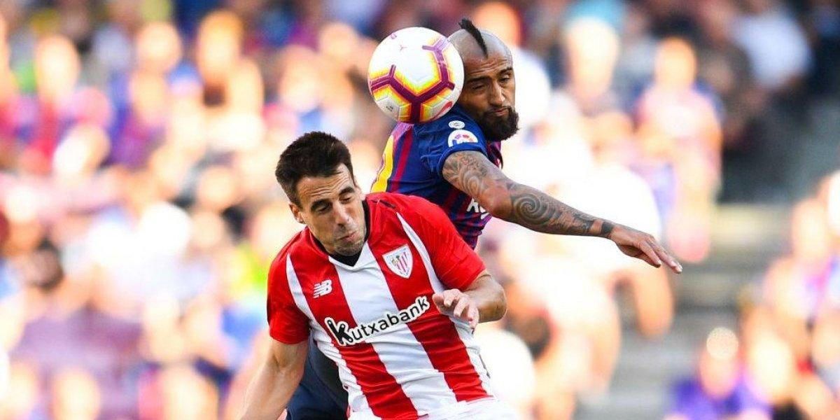 Con un luchador Vidal de titular, el Barça empata con Athletic y sigue sin ganar en la Liga