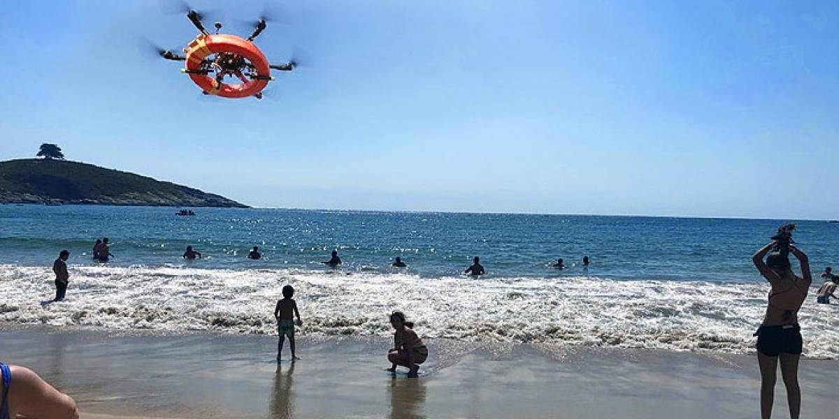 Chile: Estrenan novedoso dron salvavidas en Zapallar