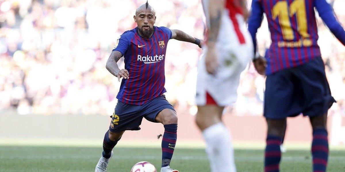 Arturo Vidal no se acomoda al Barça y todavía no juega 90' completos en un partido