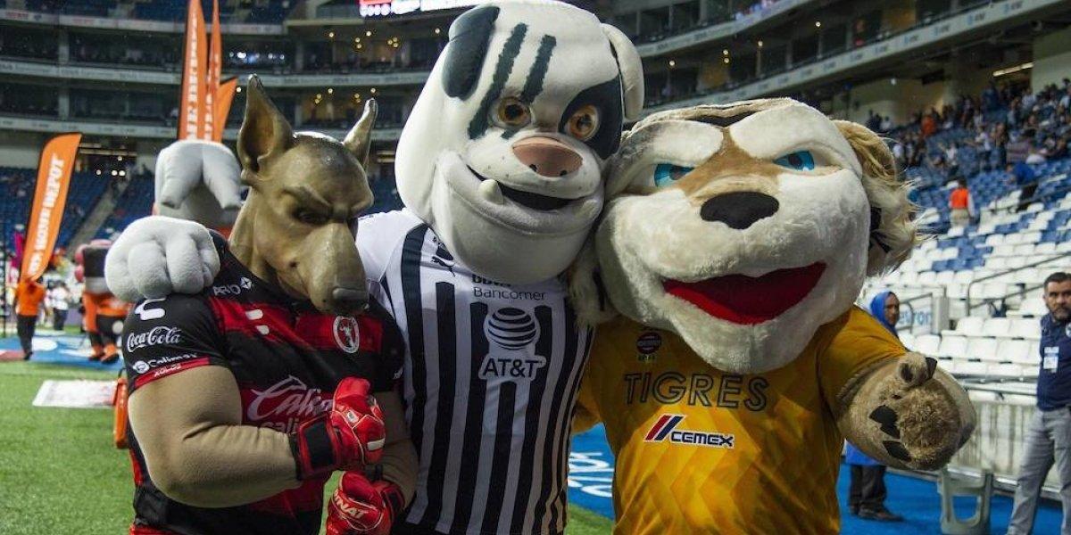 Mascotas de Rayados, Xolos y Tigres impulsan el Futbol en Paz